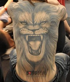 full back #lion #tattoo