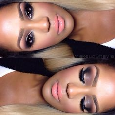 beat, nail, brown eye, lip colors, beauti, little black dresses, american hair, mac makeup ideas, pretti makeup