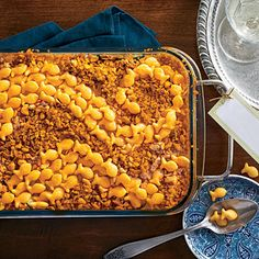 "Cheese Cracker-Topped Squash Casserole | ""We have a hard time getting our grandson to eat a vegetable. He loves Goldfish crackers, so I came up with this recipe. You can sub any type of crackers,"" says SL reader Gerri Ellis, of Hazelhurst, MS, whose recipe inspired this dish."