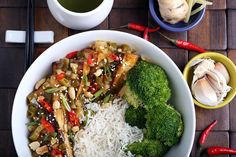 Tofu with General Tso's Sauce, we're having you for lunch if we have anything to say about it!