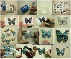 Plastic Butterflies!!
