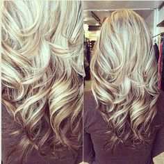 Gorgeous long blonde hair #highlights #lowlights