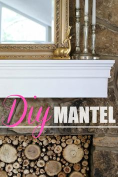 How to build a mantel for around $30! You won't believe how easy this is!