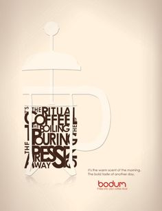 Press into your Coffee Ritual - Bodum by Gina Lacayo, via Behance