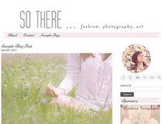 Premade WordPress Blog Template Design - So There - WP blog theme - light pink, grey, white