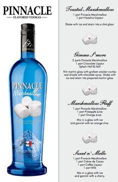 pinnacle marshmallow, cucumb watermelon, food, alcohol, drink