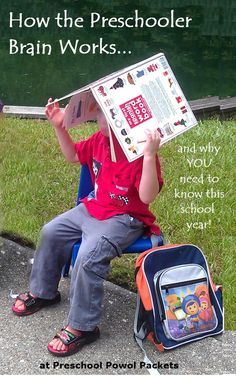 How your preschooler's brain works...and why you want this information this school year!  #preschool