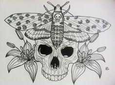 calabera & piliya desing tattoo