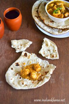 Naan recipe without yeast, no oven.  Stove top easy recipe to make soft, delicious naan at home.