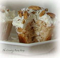 Only Three Ingredients--Heavenly Cup Cakes~  1 box White Cake Mix  1/2 (or more) cup Flaked Coconut  3/4 cup Unsweetened Applesauce   Mix well. Bake 350 degrees, till done.