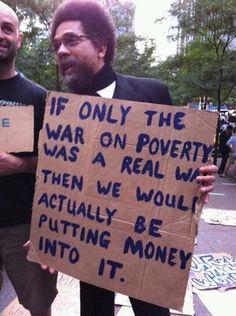 War on poverty...true, true