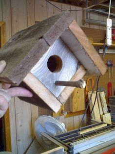 Recycle Wood Projects | Rustic wood birdhouses, made from recycled fence board.