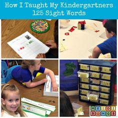 How I Taught My Kindergartners 125 Sight Words