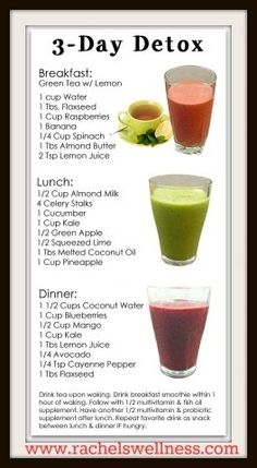 Simple 3 day juice detox and whole foods 7 day detox for the winter.