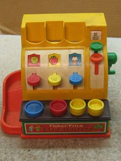 Fisher Price 1970s Toy Cash Register