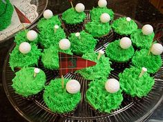 Golf cupcakes for The Masters