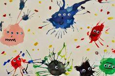 1st grade ink monsters!
