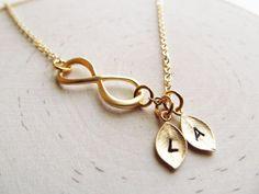 Personalized Infinity Necklace Initial Necklace Mom by IrinSkye, $22.00
