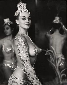 Parisian Latin Quarter Chorus Girl - Photo By Peter Basch 1950's
