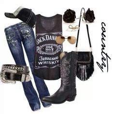 I would totally rock this... without the purse.. & the hat... Well maybe the hat... belt had too much bling for my liking...