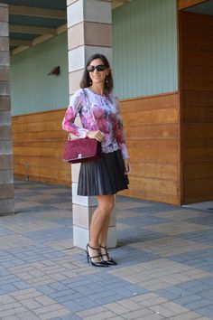 Bay Area Fashionista: Victoria Bracha, florals and berry hues