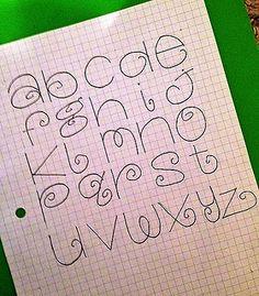 fun new font by denisedaysmith, via Flickr