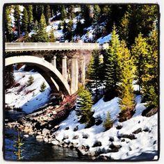 Winter near Payette River in Idaho.
