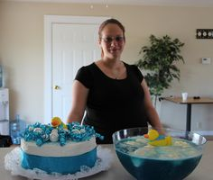 Rubber duck bubble bath theme at Marion's baby shower.