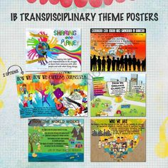 IB Transdisciplinary Theme Posters for US Paper from Celebrate Learning Designs on TeachersNotebook.com -  (9 pages)  - COLORFUL, EYE-CATCHING & THOUGHT PROVOKING transdisciplinary poster set for the IB classroom!