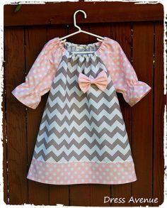 Chevron dress Toddler girls dress Peasant Zig zag by DressAvenue, $26.00
