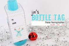 Under A Cherry Tree: {free download} Jin's Bottle Tag templates (include gift card holder)