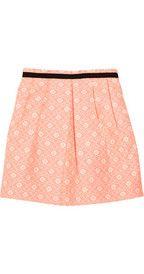 SandroJoyeuse patterned cotton-blend skirt
