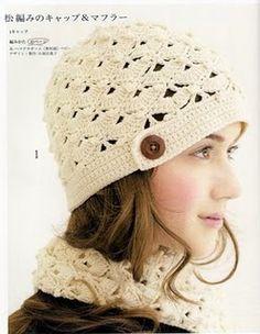 Crochet beret free pattern.