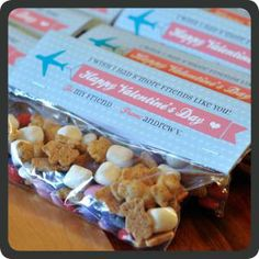 Valentine's Day S'More Snack Mix with Free Printable