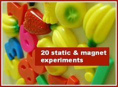 20 early years static & magnetism experiments @Maaike Boven make lists ...  #science #experiment #science