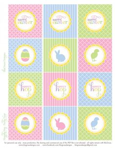 Free Easter cupcake toppers #easter #cupcakes