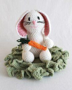Baxter Bunny Crochet Pattern http://www.maggiescrochet.com/baxter-bunny-crochet-pattern-p-1959.html #baxter #bunny #crochet #amigurumi