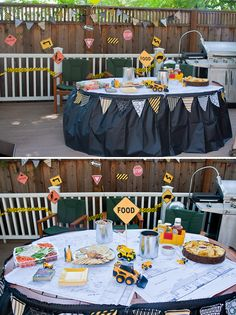 themed birthday parties, construction theme, food tables, party themes, theme birthday, construction party, construct theme, 2nd birthday, themed parties
