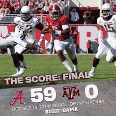 bamafootball_'s photo: Blake Sims (4 Total TDs) throws for 268 yards and runs for another 54. Amari Cooper catches 8 balls for 140 yards and 2 TDs, and Tj Yeldon rushes for 114 yards and 2 TDs. Maybe the best stat of the day.. Zero turnovers and Zero penalties in this game. Near Perfection. #alabama #bama #bamanation #builtbybama #cfb #crimsontide #collegefootball #football #ncaa #ncaaf #ncaafootball #roadto16 #rolltide #rtr #sec #theprocess