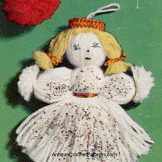 Crochet Angel - Free Crochet Pattern - A crochet angel pattern is sure to please and can be used as an ornament, as a tree topper, and in many other creative ways!