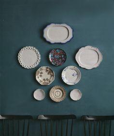 Martha stewart plate wall