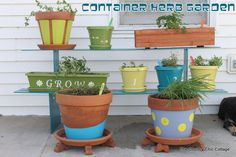 Container Herb Garden Reveal with @Home Depot #digin #ad ~ * THE COUNTRY CHIC COTTAGE (DIY, Home Decor, Crafts, Farmhouse)
