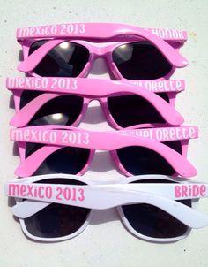 Bachelorette Party Sunglasses, Personalized Sunglasses - @jellysmiles