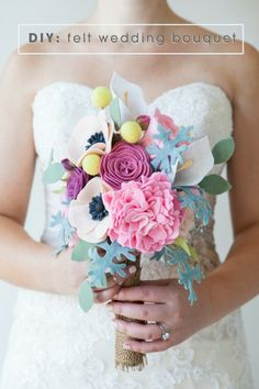 DIY Felt Wedding Bouquet via Something Turquoise wedding bouquets