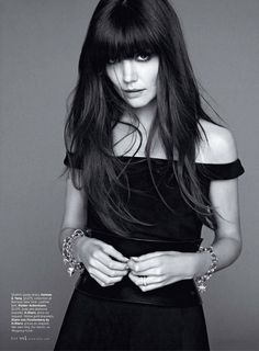 LOVE Katie Holmes hair in the July 2012 issue of Elle.