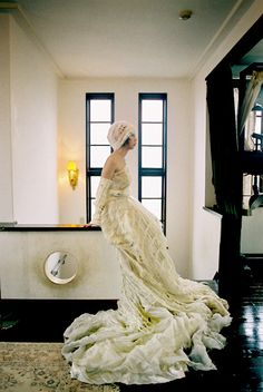 ニットのウェディングドレス