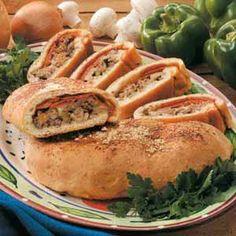 Venison Stromboli (Taste of Home June/July 2001 p60