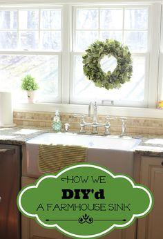 DIY Shaw's Farmhouse Sink Installation