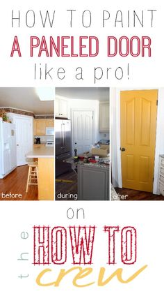 How To Paint a Paneled Door {like a pro!} from TheHowToCrew.com.  Check out our pantry door makeover and see how easy it is to paint your doors like a pro! #diy #decor #paint