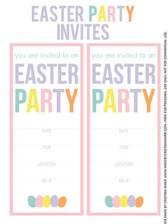 Free Easter Party Invitations!!